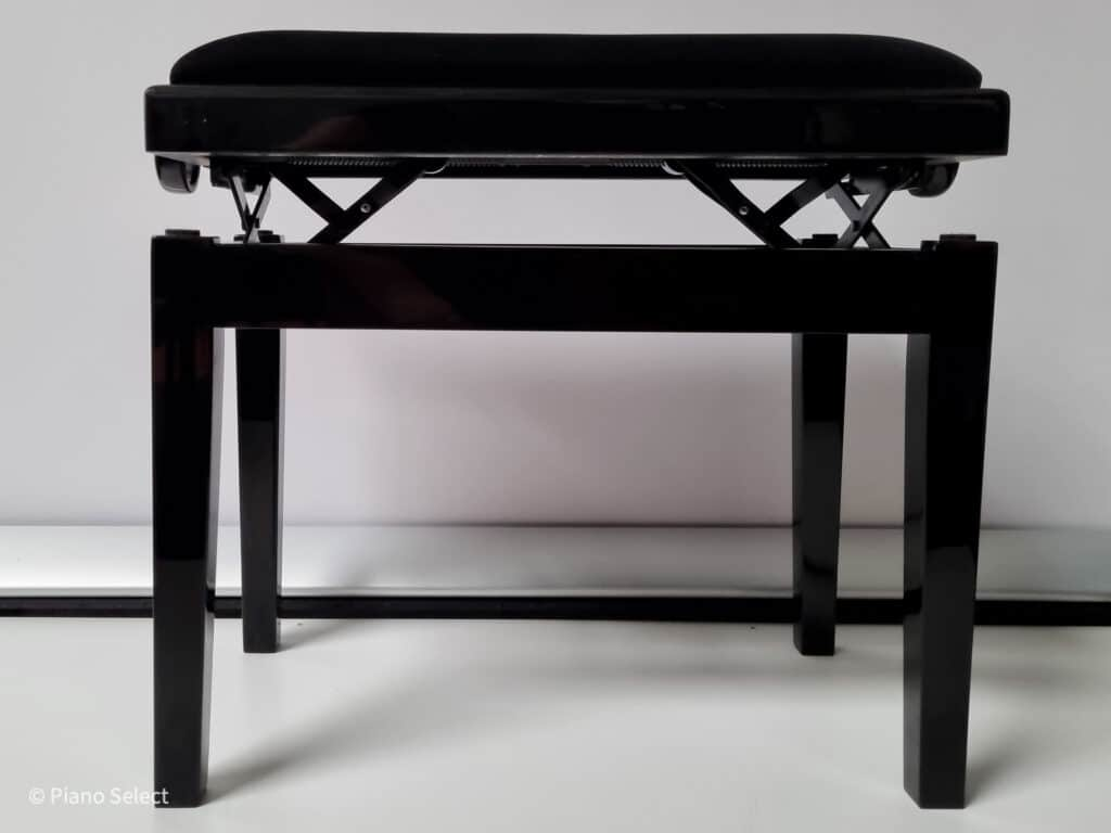 Feurich pianobank hoogglans zwart velours