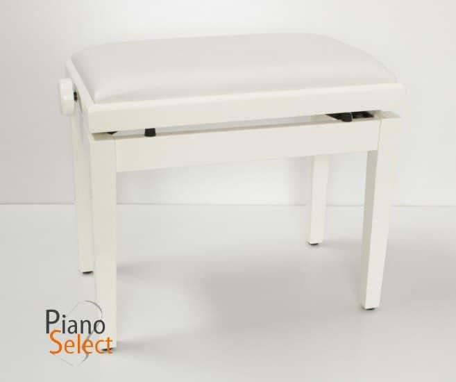 Feurich pianobank verstelbaar wit