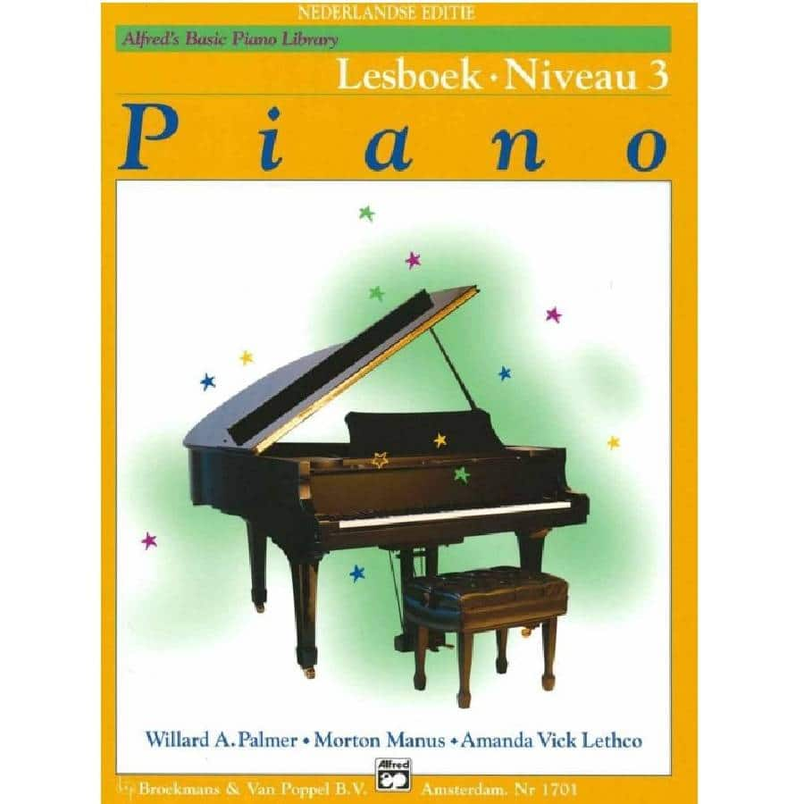 Lesboek Niveau 3 - Alfred Basic Piano Library