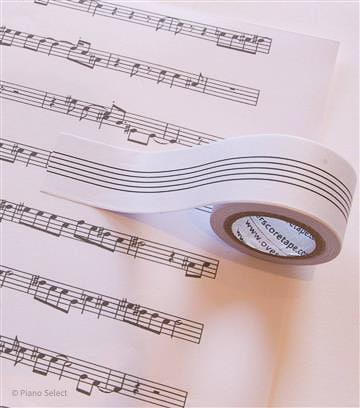 Notenbalk tape - Overscore