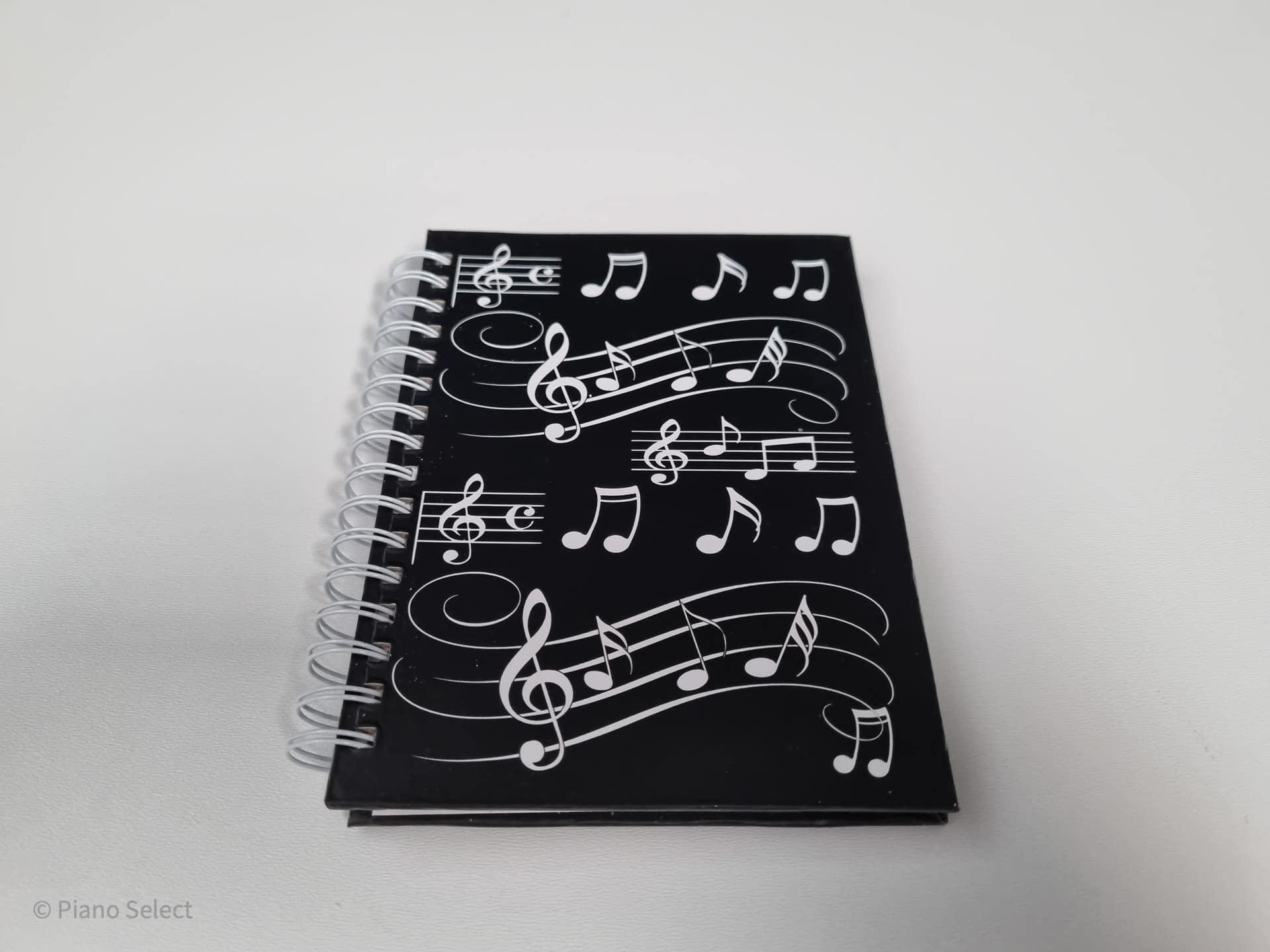 Notitieboek A6 muzieknoten design hardback spiraalgebonden