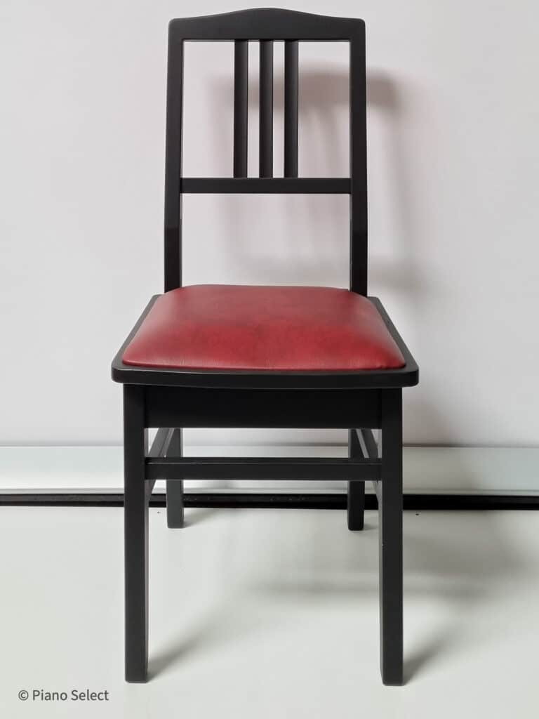 Beethovenstoel Mat Zwart Rood Skai 1