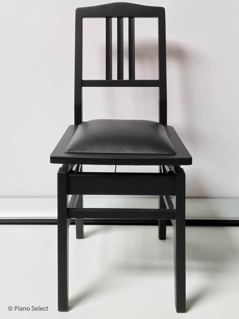 Beethovenstoel Mat Zwart Zwart Skai 1