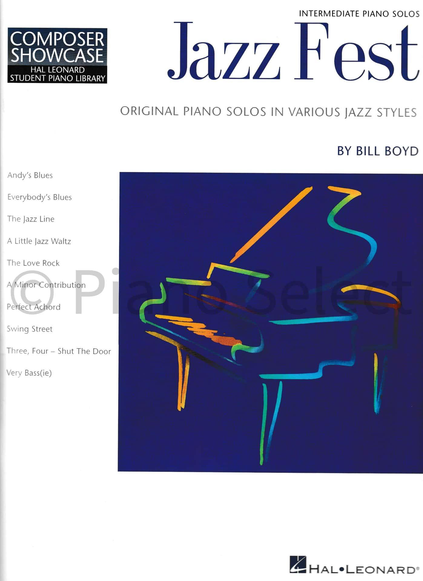 Bill Boyd Jazz Fest Hal Leonard Student Piano Library