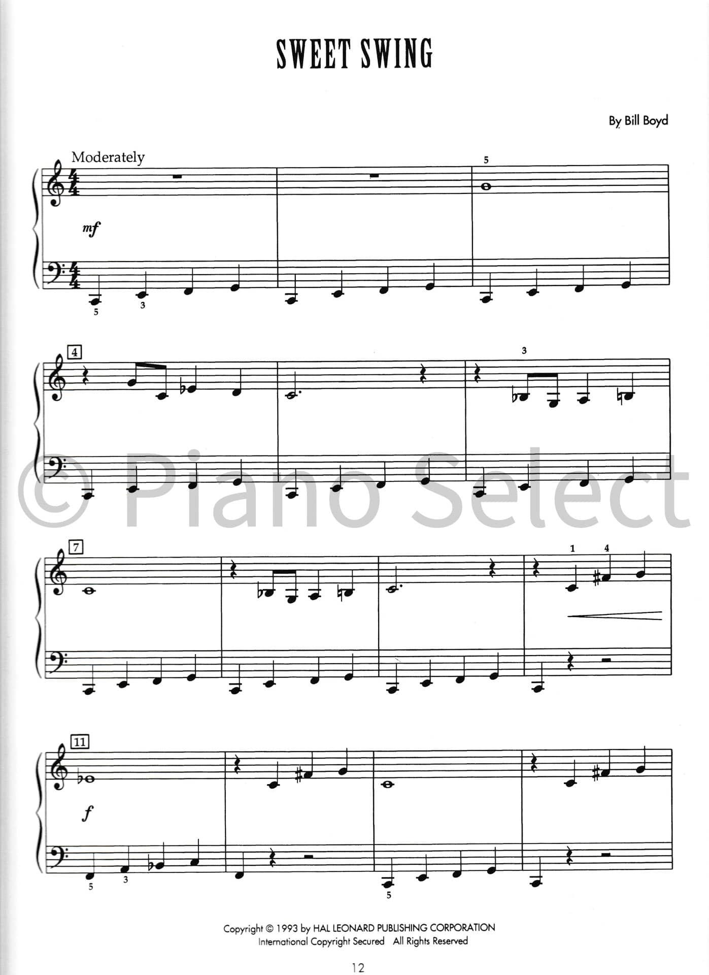 Bill Boyd Jazz Starters 2 Hal Leonard Student Piano Library